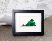 Load image into Gallery viewer, Mini State Circuit Board Framed Art, Recycled Motherboard Custom Art