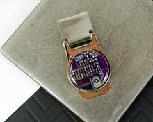 Load image into Gallery viewer, purple circuit board money clip