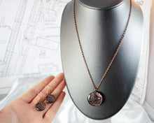 Load image into Gallery viewer, Copper Necklace and Earring Set - Medium Size