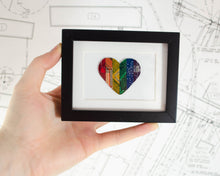 Load image into Gallery viewer, Mini Rainbow Heart Circuit Board Framed Art