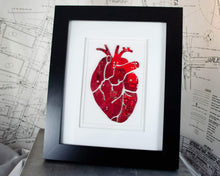 Load image into Gallery viewer, large art piece of anatomical heart made from recycled circuit boards