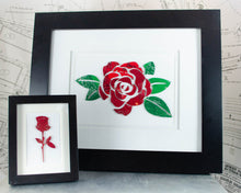 Load image into Gallery viewer, Mini Rose Circuit Board Framed Art
