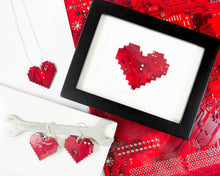 Load image into Gallery viewer, Pixelated Heart Earrings