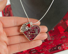 Load image into Gallery viewer, Circuit Board Heart Cluster Necklace