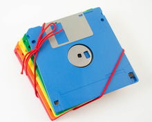 Load image into Gallery viewer, Rainbow Floppy Disc Coasters - Set of 5