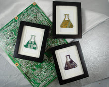 Load image into Gallery viewer, Mini Erlenmeyer Flask Framed Art