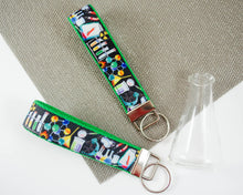 Load image into Gallery viewer, Wristlet Keychain - Laboratory Black & Green
