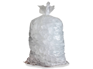 Stock Unprinted 50 lb. Clear Poly Ice Bags (Case of 300)