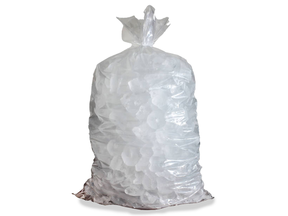 Stock Unprinted 40 lb. Clear Poly Ice Bags (Case of 300)