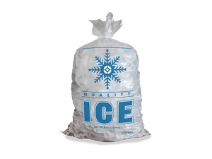 Stock Snowflake 8 lb. Clear Poly Ice Bags (Case of 1000)
