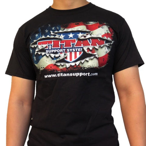 Titan USA Flag T-Shirt