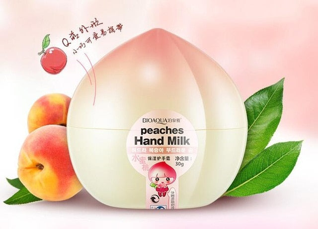 Bioaqua Peach Lemon Pear Mango Banana Ointment Milk Hand Creams Anti Aging Chapping Dry Lotion Cream For Hands Skin Care