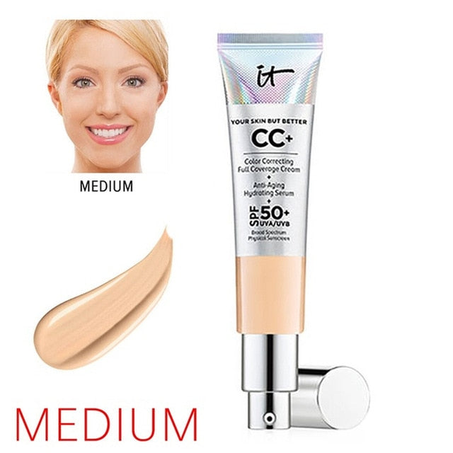 It Cosmetic Your Skin But Better CC+ Foundation Cream Full Coverage Concealer Color Corrector Matte Base Makeup