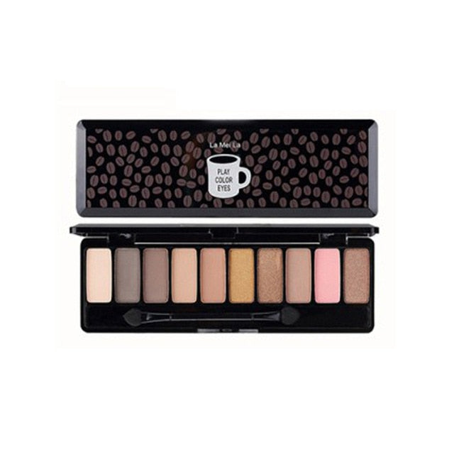 10 Color Nude Shimmer Eyeshadow Palette