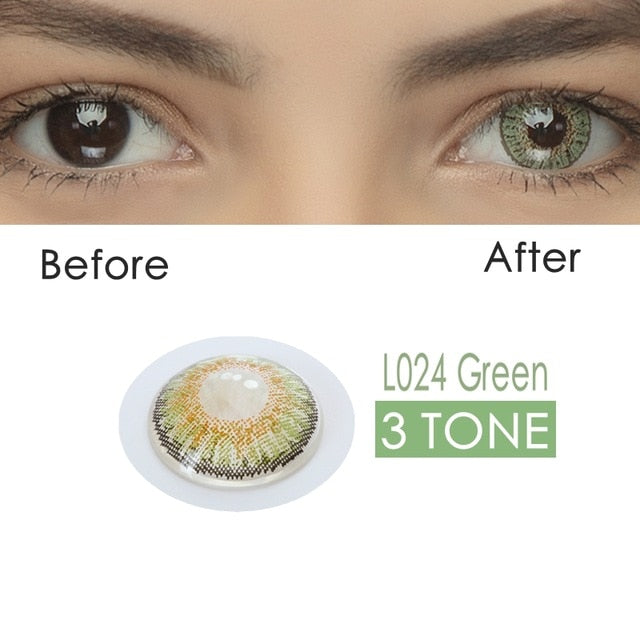 2pcs/pair 3 Tone Series Colored Contact Lenses