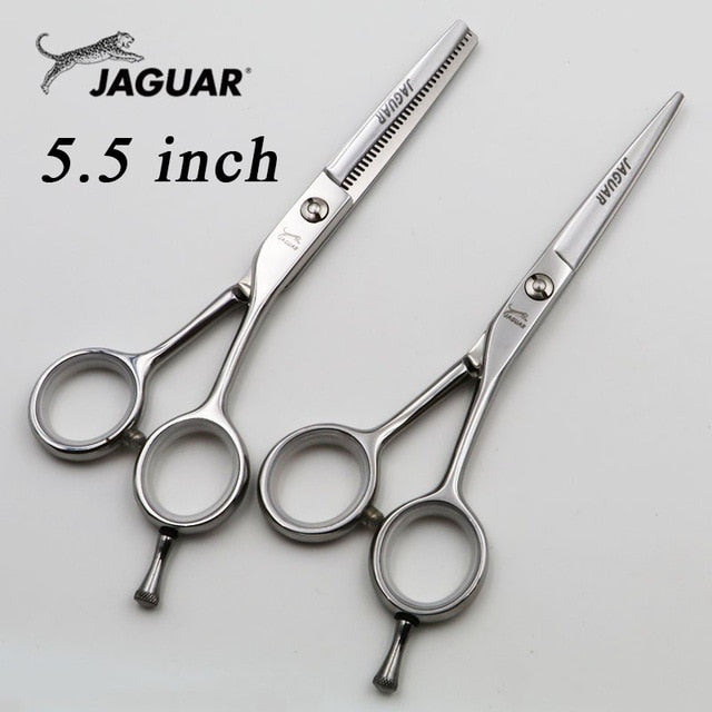 5.5/6 inch Professional Hairdressing scissors set Cutting+Thinning Barber shears High quality Personality Black styles