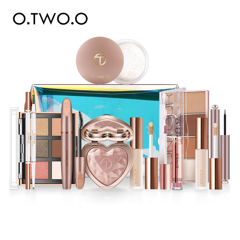 O.TWO.O 11pcs/set Full Makeup Kit Include Eye Shadow Blusher Concealer Contour Highlight Mascara Eyebrow Eyeliner Loose Powder