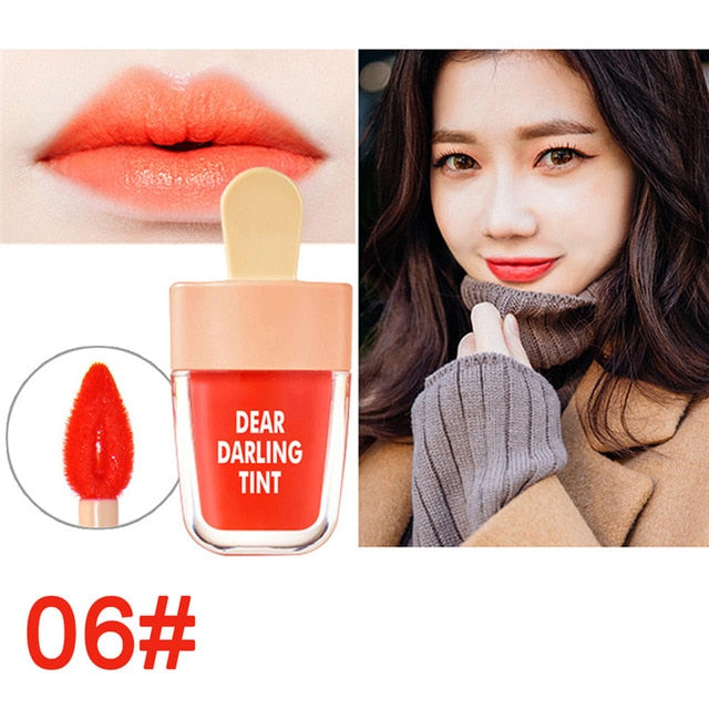 6 Candy Colors Super Ice Cream Lip Gloss Waterproof Long Lasting Makeup Liquid Lipstick Sweet Red Lip Tint Sweet LipGloss TSLM1