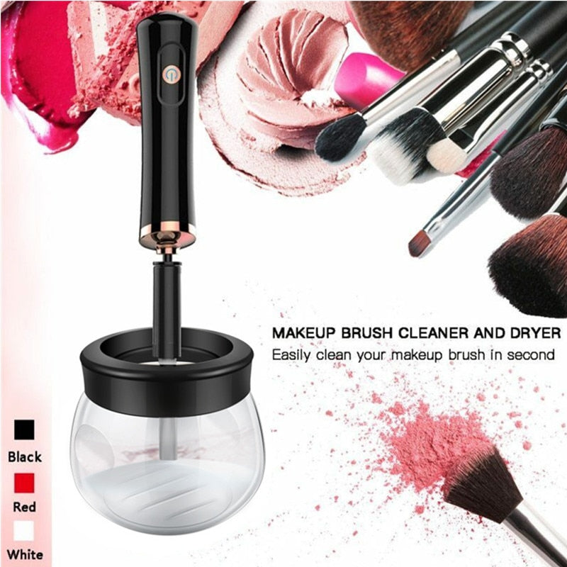 1PC Electric Makeup Brush Cleaner & Dryer Set Convenient Silicone Make up Brushes Washing Cleanser Cleaning Tool Machine 20#