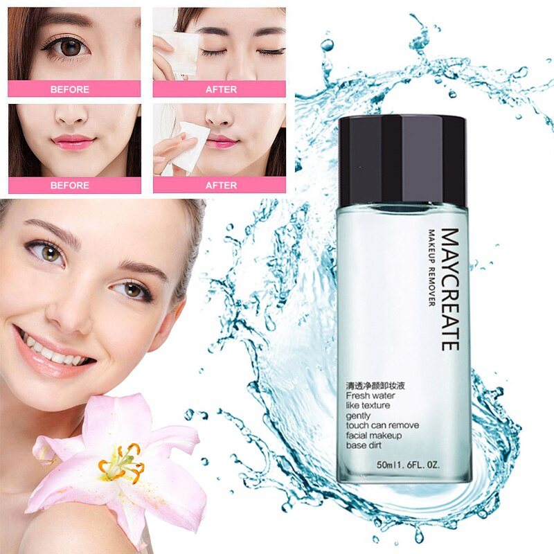 50ml Face Makeup Remover Products Natural Gentle Deep Speed Cleansing Eye & Lip Makeup Remover Non-greasy TSLM2