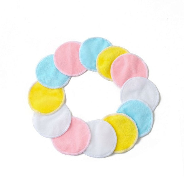 20PCS Organic Reusable Cotton Pads Washable Cleansing cotton Makeup Remover Natural Bamboo Rounds with Cotton Bag