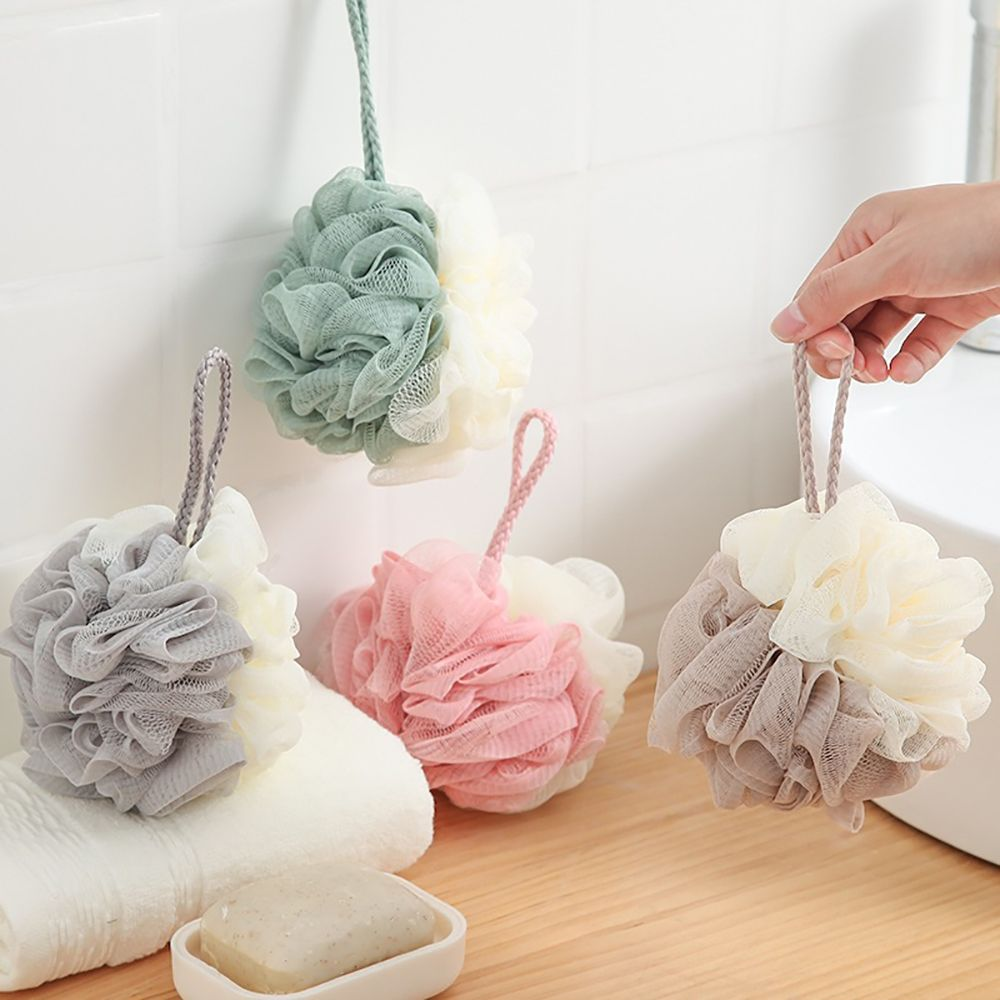 1pc Soft Shower Mesh Foaming Sponge Bath Bubble Ball Body Skin Cleaner Exfoliating Scrubber Back Brush Bathroom Accessories