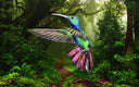 Digital art image Colibri II