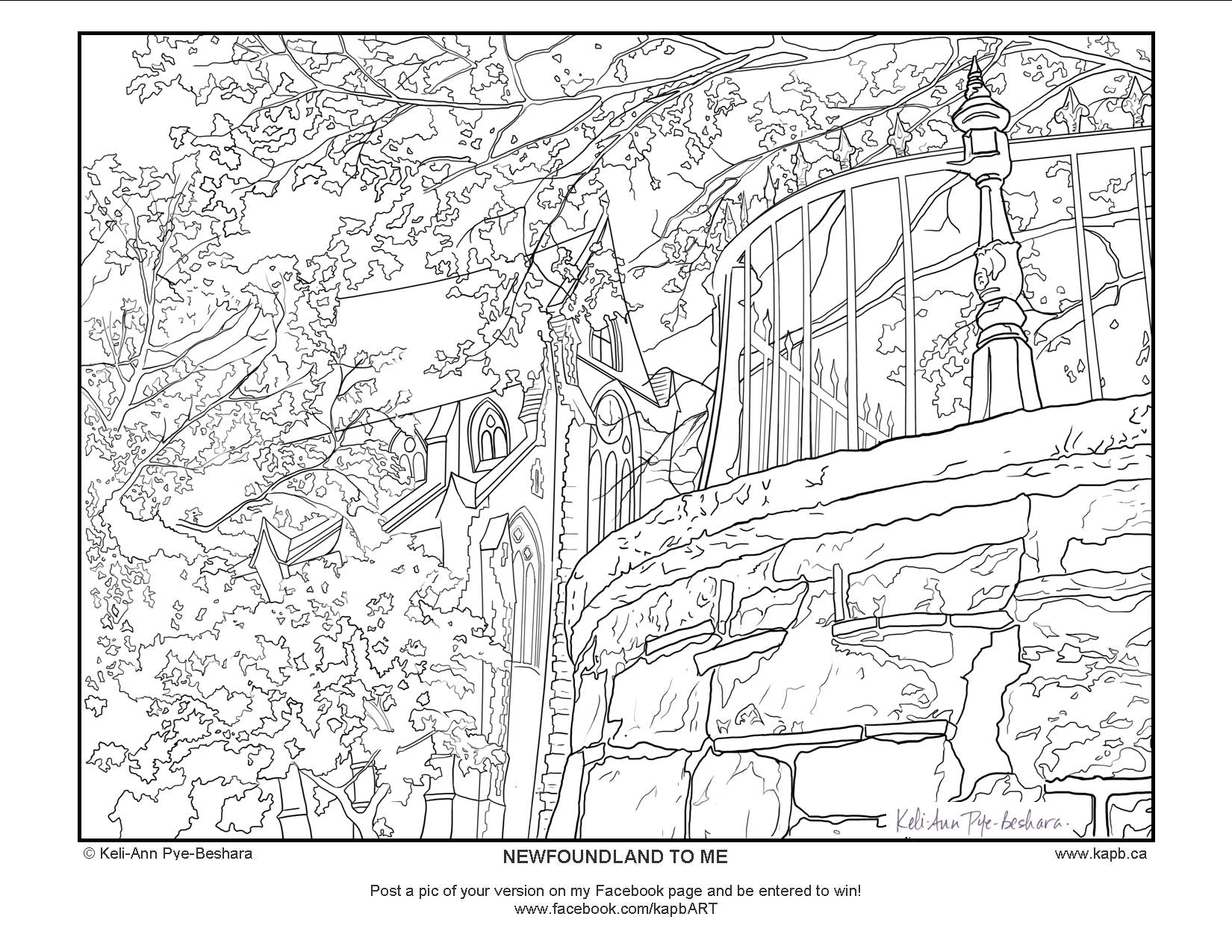 newfoundland coloring pages - photo#34