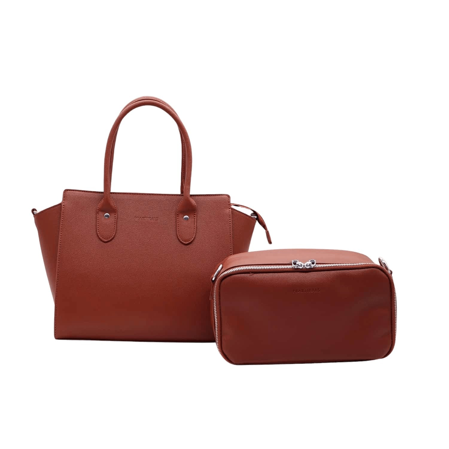 Bella Handbag with Designer Lunch Tote Praktikals handbags Praktikals Brown