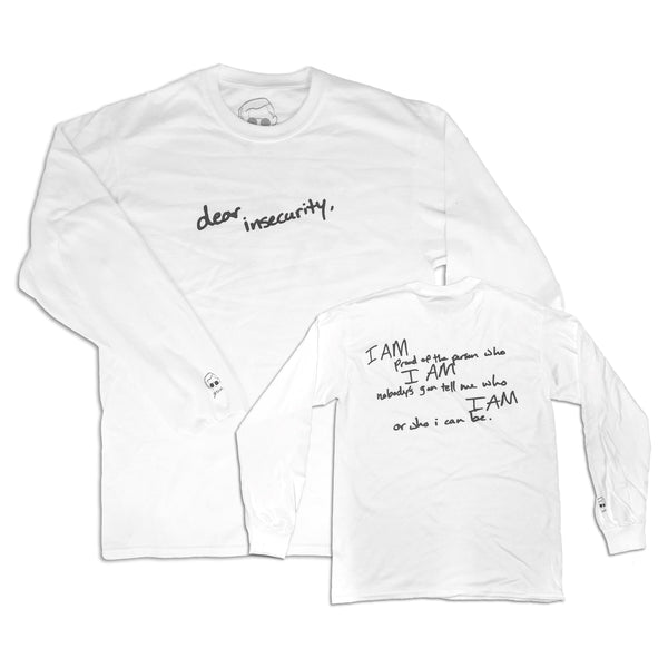 dear insecurity longsleeve (white)