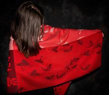Load image into Gallery viewer, Butterfly and flower Poncho, Bettlehouse, 100% cotton