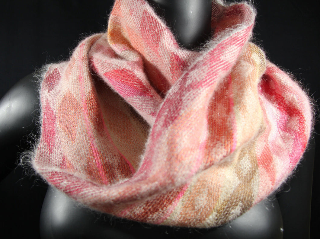 Best cozy cowl woven with Italian wool and silk