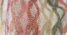 Load image into Gallery viewer, detail of warm cowl with merino wool and silk at Bettlehouse