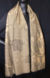 Nature motives-butterfly and flowers were woven with 100% silk.