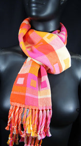 best stylish cotton scarf with bright colors, handwoven at bettlehouse