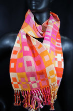 Load image into Gallery viewer, best stylish cotton scarf with bright colors, handwoven at bettlehouse