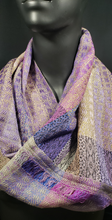Load image into Gallery viewer, Handwoven infinity scarf , 100% silk, bettleshouse