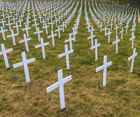 ANZAC soldiers graves