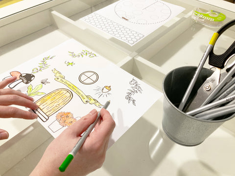 Colouring Your Paper Mushroom House