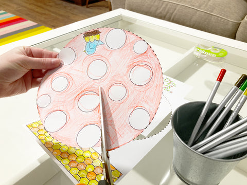 Cutting Out Your Paper Mushroom House