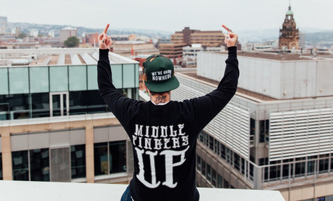 FEATURE FRIDAY: MIDDLE FINGERS UP CREWNECK