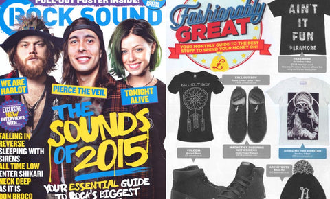 AS SEEN IN ROCKSOUND MAGAZINE