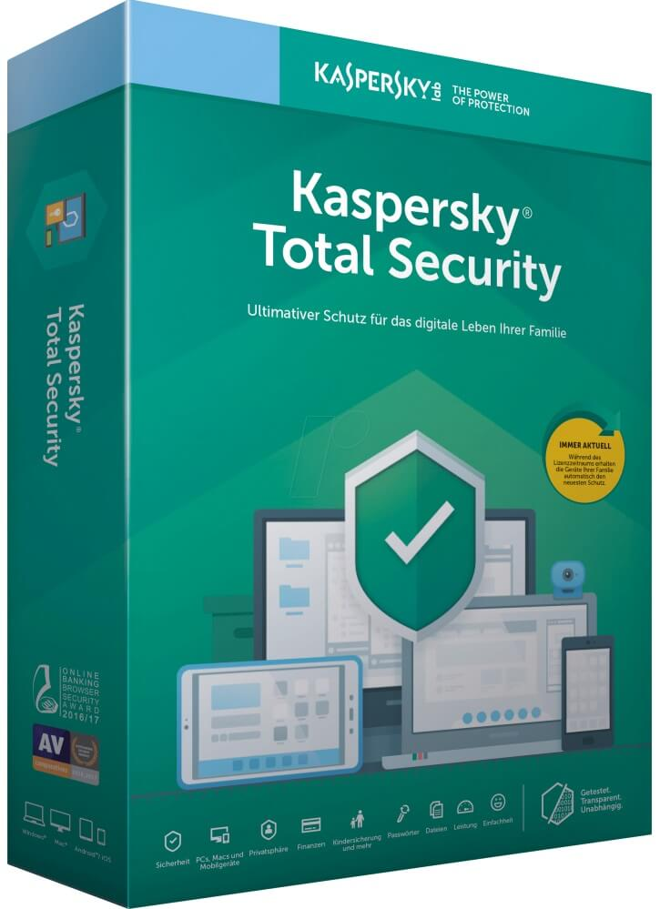 Kaspersky Total Security 2020 - 3 Geräte 12 Monate ESD - Best4software
