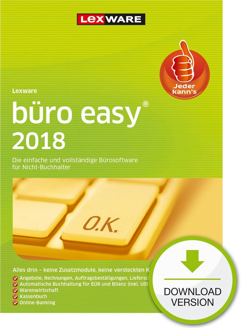 Lexware büro easy 2018 Jahresversion (365-Tage) ESD - Best4software