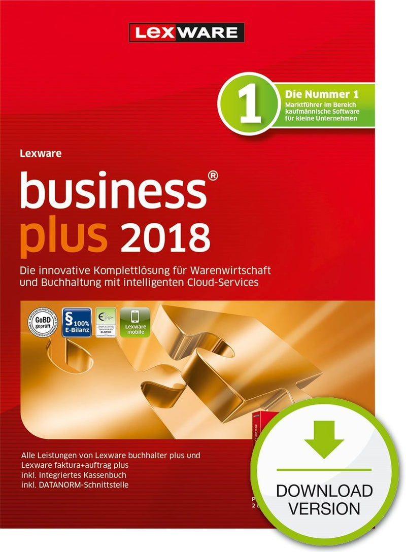 Lexware business plus 2018 Jahresversion (365-Tage) ESD - Best4software