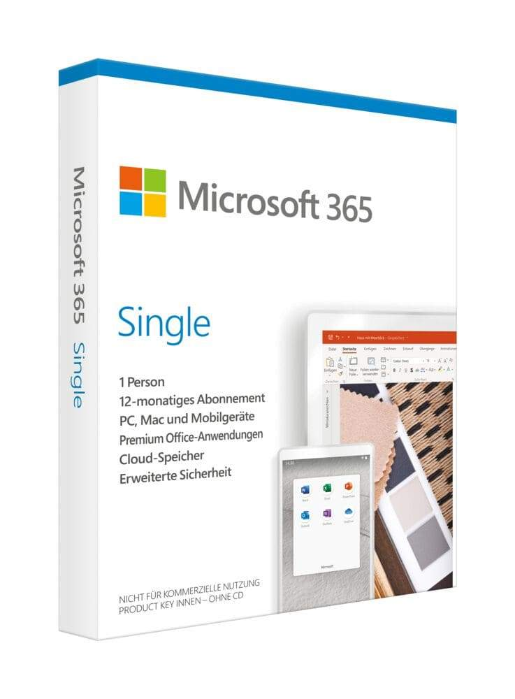 Microsoft Office 365 Single - 1 User / 12 Monate ESD - Best4software