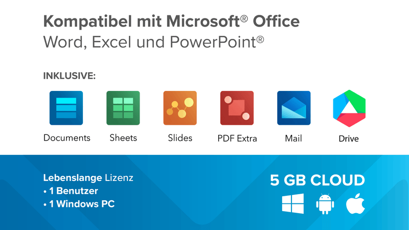 MobiSystems OfficeSuite Home and Business inkl. 5GB Cloud (Lifetime) - Best4software