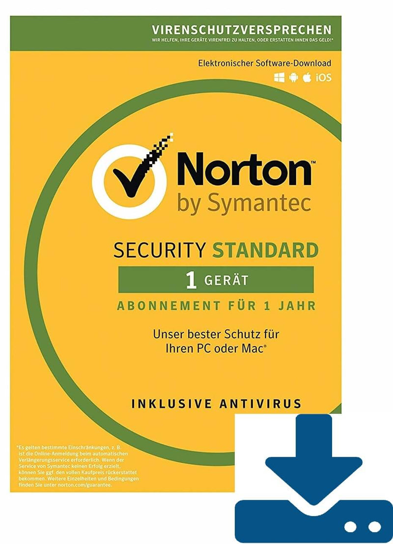 Norton Security Standard 2019 - 1 Gerät 12 Monate ESD - Best4software