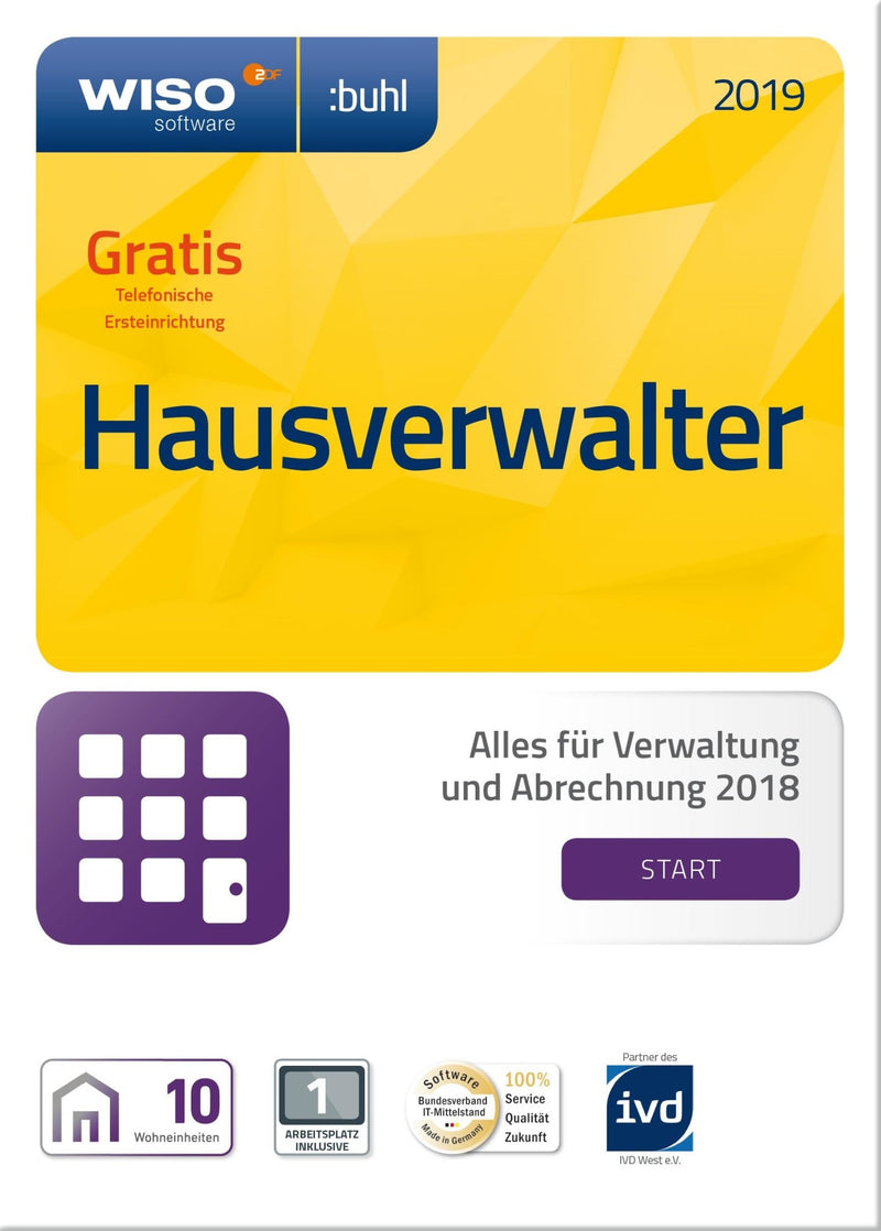 WISO Hausverwalter 2019 Start ESD - Best4software