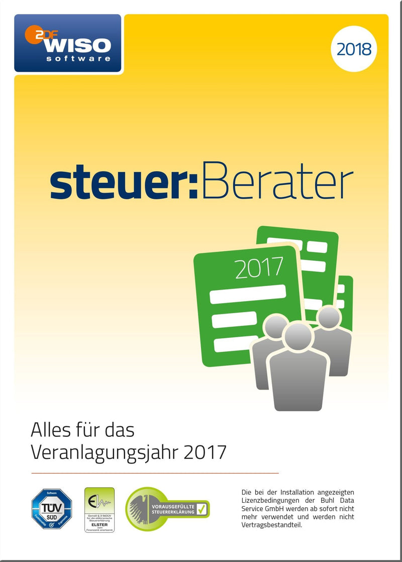 WISO steuer:Berater 2018 ESD - Best4software